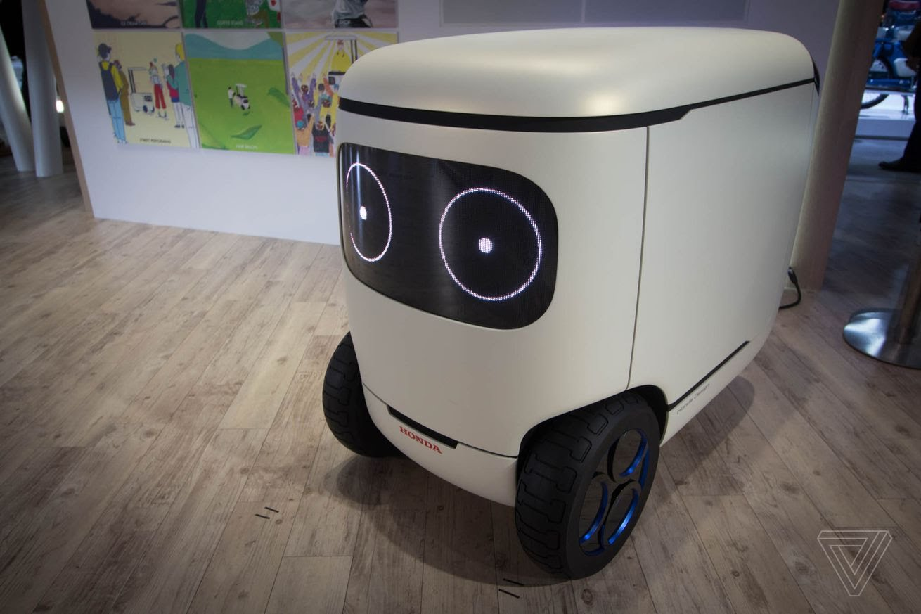 Honda has unveiled a very cute self-driving cooler